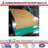 Bobina d'acciaio PPGI di colore stampata reticolo di legno per materiale da costruzione