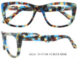 Spätestes populärstes Eyewear Großhandelsazetat-optische Rahmen für Frauen