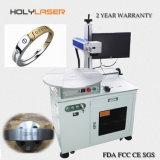 Gold/silberne Faser-Laser-Markierungs-Maschine auf Metall