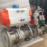 Válvula de gas vávula de bola neumática de la vávula de bola de flotación de 2 pedazos y de Manufacture& de la válvula