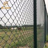 Omheining van het Netwerk van de Link van de Ketting van de Barrière van sportterreinen de pvc Met een laag bedekte