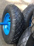 Roda pneumática de borracha da borda do metal da alta qualidade para o Wheelbarrow e o Handtrolley