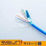 Твердые неизолированной медью FTP CAT6 кабель локальной сети 305м пакет с полихлорвиниловая оболочка