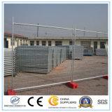 Cerca temporal de acero temporal del emplazamiento de la obra de los paneles de la cerca de la construcción