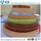 PVC de las bandas de borde del grano de madera o del color sólido para los muebles