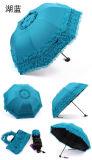 Anunciando a impressão feito-à-medida relativa à promoção do logotipo guarda-chuva de dobramento do laço mini três