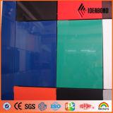 Ideabond 실내 장식을%s 빨간색 코팅 건축재료를 가진 광택 있는 알루미늄 합성 위원회 ACP 클래딩 벽