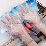 El servicio de comida guantes de plástico desechables que maquinaria