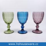 Copo de vidro colorido em forma Arabesquitic