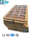 Fundição de aço manganês alto com a placa da Garra