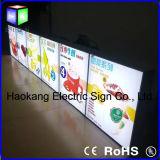 Cadre photo en aluminium pour carte menu avec plaque lumineuse