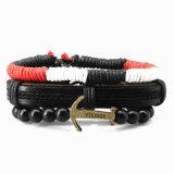 4PCS Armband van de Manchet van 1 Reeksen Multilayer Gevlechte voor Mensen