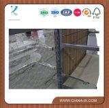 Carrinho de indicador de madeira e de aço com parede do Slat