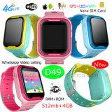 intelligenter Kinder 4G GPS-Verfolger-mobile Uhr mit PAS-Funktion D49
