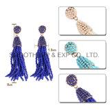 長い縁を付けられたカラーはふさのイヤリングの方法女性のアクセサリの宝石類のギフトに玉を付ける