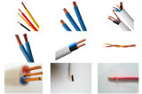 Cable plano aislado PVC de cobre del conductor