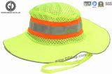 Sombrero de cuchara de pesca de alta visibilidad con paneles reflectantes