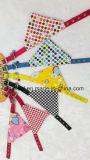 Bandana d'animal familier de coton d'écharpe estampé par crabot