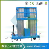 Plate-forme verticale maximum de levage de la hauteur 14m de plate-forme semi électrique de travail aérien de Portable pour la maintenance