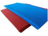 セルシリコーンのフォームラバーシート、青いのシリコーンのスポンジゴムシートを、黄色赤い開きなさい