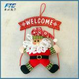 De Deur van Kerstmis van de Decoratie van Kerstmis hangt Welkome Kroon