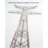 передающая линия гальванизированная 110kv башня стали электричества угла