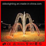 Colorido LED decorativa al aire libre grandes de la luz de la fuente de Navidad