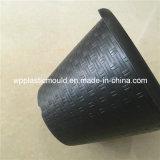 庭のホーム装飾(HP-01)のための円形の黒いプラスチック植木鉢