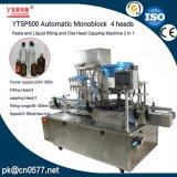 Máquina de enchimento e tampando do líquido Ytsp500 para o vinho