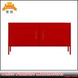 Стойка TV мебели двери Bas-129 2 красная домашняя, шкаф TV