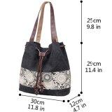 Handbag Fashion布バケツの女性ショルダー・バッグ(WDL0292)