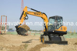 precio de fábrica China 7t Mini Excavadora de ruedas para la venta