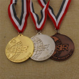Médaille courante de souvenir de sport fait sur commande de récompense d'usine avec la bande faite sur commande