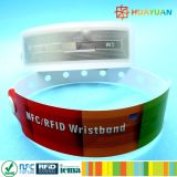Water Park impermeable MIFARE Ultralight EV1 Desechable RFID Pulsera