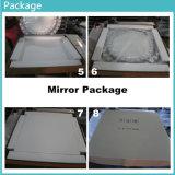 Espelho decorativo personalizado da parede do quadrado do tamanho para a sala de visitas