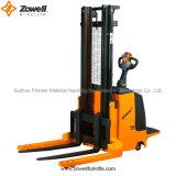 el CE de 1.5 a 2 toneladas eléctrico monta el apilador a horcajadas