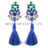 Long métal Pattern Multicolor Tassels Earrings Bijoux en Diamants Don d'accessoires