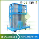 Piattaforma verticale massima semi elettrica dell'elevatore di altezza 14m della piattaforma di lavoro aereo del Portable per manutenzione