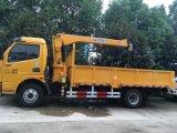 Dongfeng LHD Rhdのトラックはクレーン持ち上がる貨物自動車のトラックによって取付けた