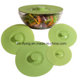 O alimento reusável do silicone cobre tampas da sução do silicone para o recipiente, bandeja, potenciômetro, bacia, copo