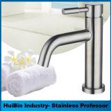 Le laiton seule poignée du levier du robinet mélangeur sanitaires, bassin de la salle de bains Faucet, robinet du lavabo