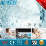 De dubbele Badkuip van de Massage van de Persoon met Zij Lichte Luxe 1m Waterval (BT-A1112)