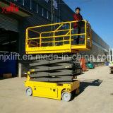 la plataforma eléctrica aprobada Ce de elevación de la altura de la capacidad de carga 300kg los 6-12m Scissor la elevación automotora móvil para la venta