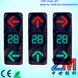 Semaforo infiammante approvato di En12368 LED con il segnale stradale del tester/di conto alla rovescia