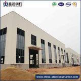 クレーンが付いている専門の鉄骨構造の構築の倉庫の構築