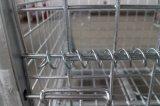 Envases galvanizados almacén de la jaula del almacenaje del acoplamiento de alambre con el echador