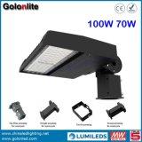 고품질 최고 가격 최고 밝은 120lm/W 공장 100W 70W 일광 광전지 센서 LED Shoebox 빛