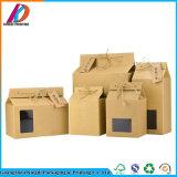 Коричневый крафт-бумаги для приготовления чая и упаковке с прозрачным окном
