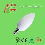 Forma de la vela CFL 7W-E14 (VLC-CD-7W-E14), lámpara ahorro de energía