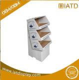 Étalage d'étage personnalisé avec 4 étagères, présentoir de papier, unité de visualisation debout d'étage, contre- unité de visualisation,